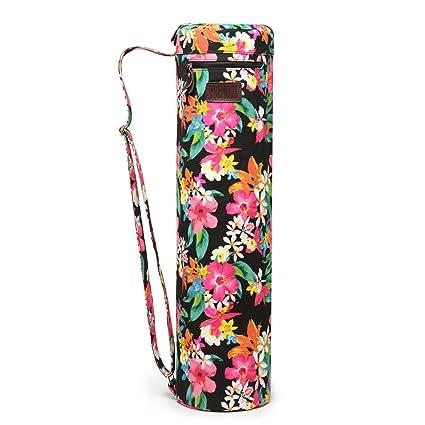 Fremous Yoga Mat Bag and Carriers for Women and Men - Bolsillos de Almacenamiento Multifunción Portátiles de Lona Yoga Bolsas, Peony