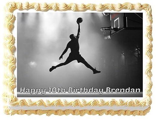Lámina comestible para decoración de tarta de baloncesto Slam Dunk ...
