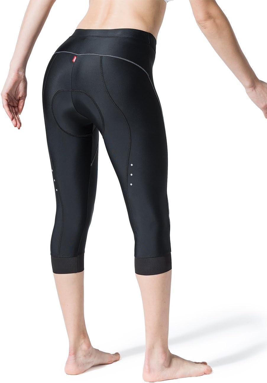 Souke Sports Damen Lange Radlerhose 4D Gepolstert Fahrradhose Damen Lang Komfortabel Damen Radhose Lang