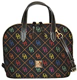 Dooney & Bourke Signature Zip Zip Satchel Crossbody Bag Purse Black