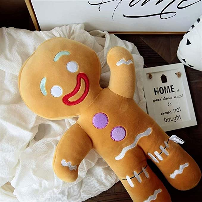Amazon.com: Yuncheng Baby Gift Toy Plush Toy Plush Doll Figurine Toy Pet Pillow Animal, Cute Gingerbread Man Plush Toy Baby Appease Doll Biscuits Man Pillow Cushion Reindeer Home Decor Toy for Children Christmas: Home & Kitchen