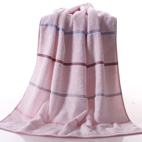 Toalla de Baño de Algodón Macho y Hembra Modelos de Pareja Adultos Niños Aplicar Azul Rosa
