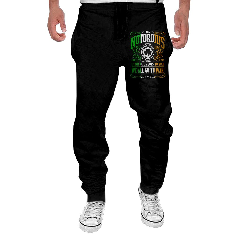 Fashion Sweat Pants Men's Conor Mcgregor UFC Quote Jogger Sweatpants