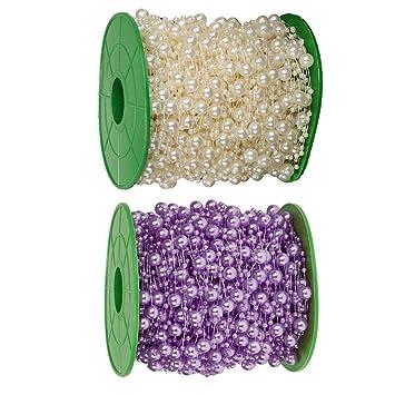 2x Künstliche Perlengirlande Perlenband Perlenkette Perlenvorhang DIY