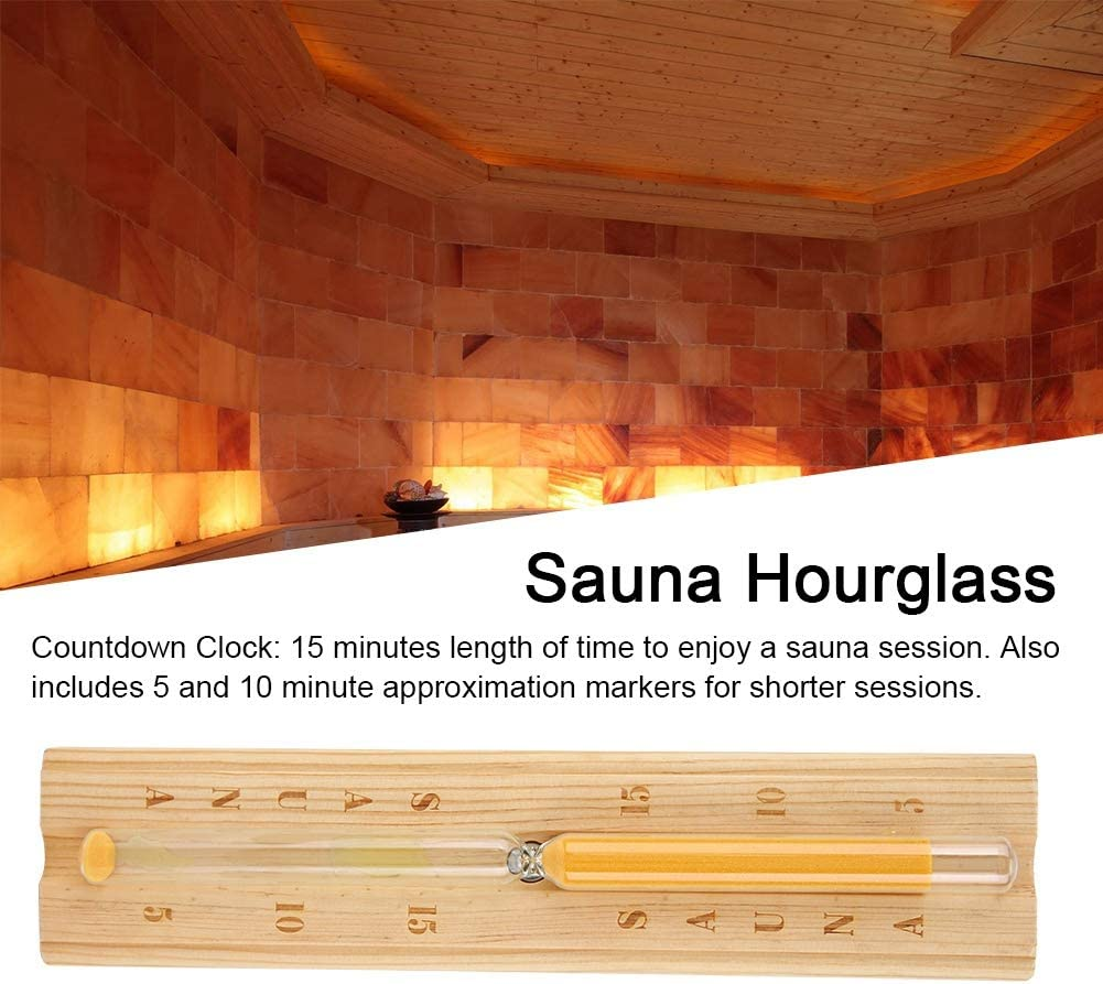 Wooden Sand Timer Sauna Hourglass Sand Timer Countdown Clock 15 Minutes Timing Hourglass Decorative Home D/écor Unique Gifts Collection