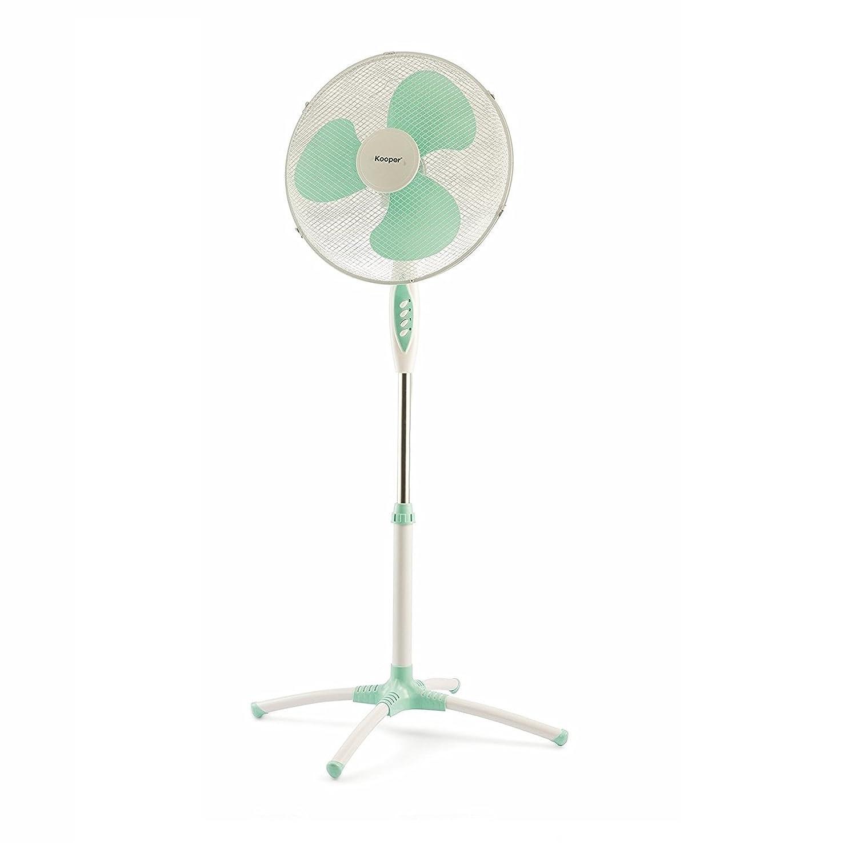 socle fixe 1,45/m Takestop/® 3/vitesses lumi/ère nocturne h/élice 40/cm oscillation horizontale Ventilateur sur pied 45W couleur au hasard