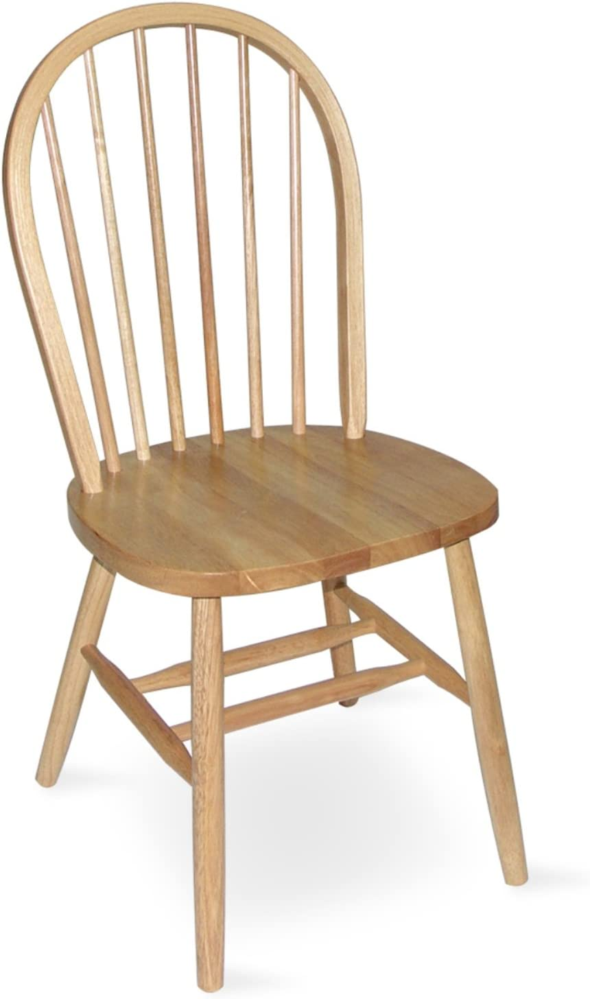 International Concepts 37-Inch High Spindle Back Chair, Natural
