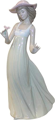 Lladro Nao Collectible Porcelain Figurine Gentle Breeze – 10 Tall – Girl Young Lady