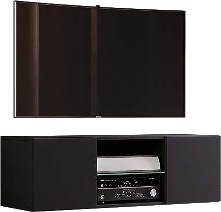 VCM jusa 115 – Mueble TV, Madera, Negro, 40 x 115 x 36 cm: Amazon.es: Hogar