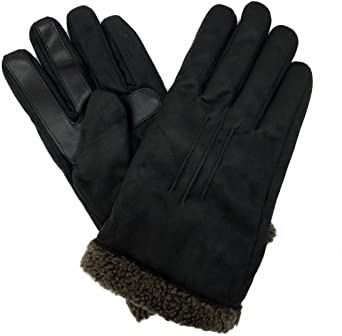 A75613 Isotoner Mens SmartTouch Casual Microsuede Gloves