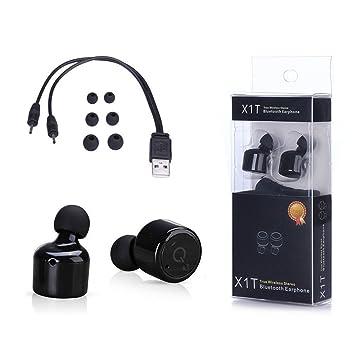 Los verdaderos auriculares estéreo inalámbricos , Songe gemelos Mini Auriculares Bluetooth con cancelación de ruido 4.2