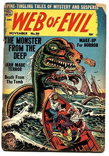 WEB OF EVIL #20-pre code horror-Comic Book-Sea Creature menace