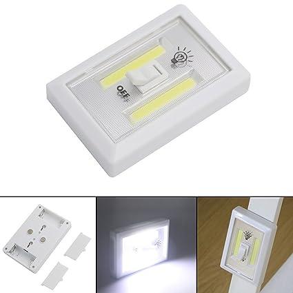 yiwa COB LED Interruptor de luz sin cordón magnético Armario Estantería Armario Luz nocturna & cocina