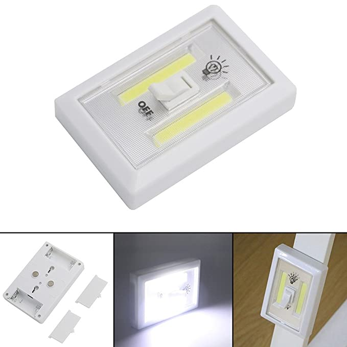 thinx Max COB LED Interruptor de luz sin cordón magnético Armario Estantería Armario Luz nocturna & cocina RV & Boot batería Alimentado por lámpara LED Luz ...