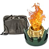 Towerin Camping Alcohol Stove Mini Windproof Alcohol Burner with Stand Suitable for Backpacking, Hiking and Outdoors Sports