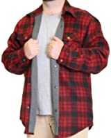 Woodland Supply Co. Mens' Thermal Lined Plaid Outerwear Shirt Jacket