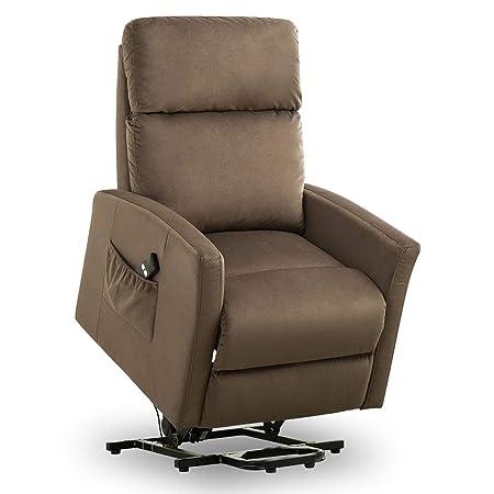 BONZY Lift Chair Modern Power Lift Recliner – Chocolate