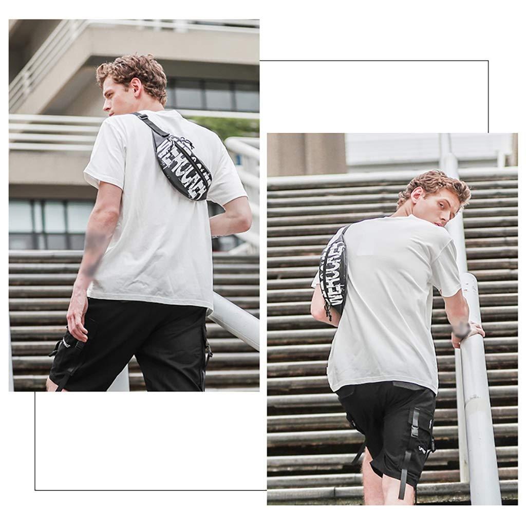 Color : Black, Size : 1331CM Tide Brand Messenger Bag Waist Bag Mens Small Lightweight Portable Shoulder Bag Street Hip Hop Small Bag Shoulder Bag Chest Bag Mens Chest Bag