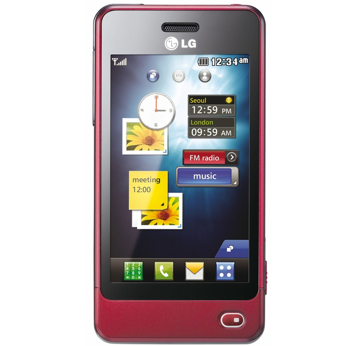 LG GD510 POP Unlocked GSM Quad-Band Cell Phone with 3 MP Camera, Touch Screen, MP3 Player and Bluetooth--International Version with No Warranty (Wine)