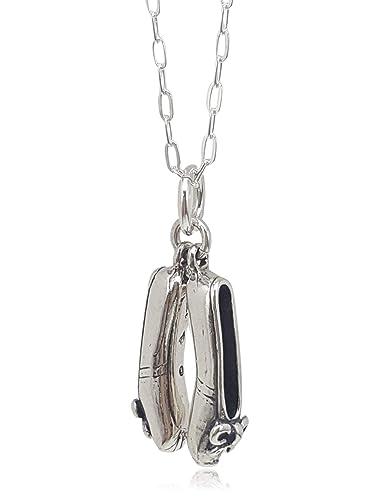 Details about  /Sterling Silver Ballet Shoe Pump Dance Necklace Bracelet Pendant