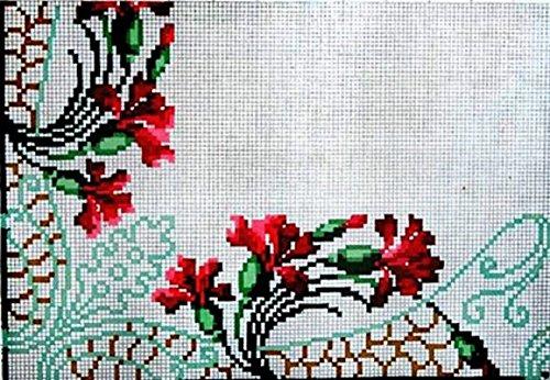 Cross Stitch Art Nouveau - Carnation Decorative Art Nouveau Cross-Stitch Corner Pattern