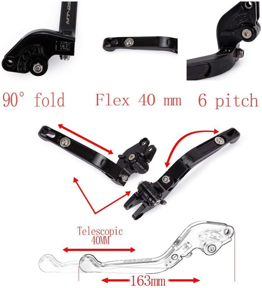 Anpassung CNC f/ür Yamaha MT-07//MT-09//MT-10//XSR//FZ1//FZ8//FZ6r//FZ6//FZ-09//FZ-10 und mehr Gold klappbare Kurze Hebel Bremskupplung Kupplungshebel