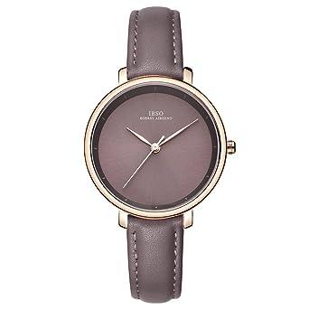 Women Simple Face Watches Leather Band Luxury Quartz Watches Girls Ladies Wristwatch Reloj De Mujer (