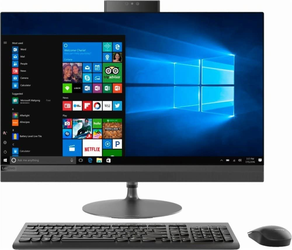 "Lenovo IdeaCentre 520 All-In-One Desktop Computer, 27"" QHD Touchscreen, Intel Quad-Core i7-7700T Up to 3.8GHz, 8GB DDR4, 1TB 7200 RPM HDD, DVD, 802.11ac WiFi, Bluetooth, USB 3.0, HDMI, Windows 10"