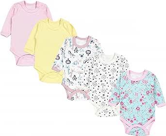 TupTam Body para Bebés Niña Manga Larga Paquete de 5