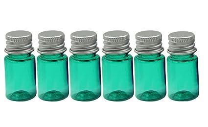 Pack de 6 5 ml 5 G reutilizable vacío plástico azul emulsión Bottes portátil maquillaje cosméticos