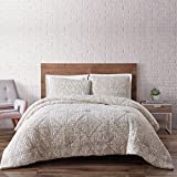 Brooklyn Loom Sand Washed Cotton Quilt Set, King, Neutral