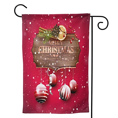 Delerain Merry Christmas Garden Flag 28 X 40 Inch Double Sided Design Weather Resistant Indoor Outdoor Decoration Small Banner For Home Yard Lawn Patio Office Amazon In Garden Outdoors