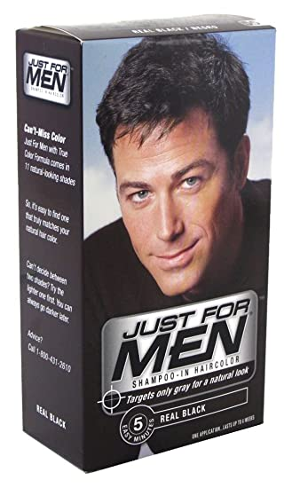 Amazon.com : Just For Men Shampoo in Real Black Color (Case of 6 ...