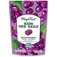 MegaFood, Kids One Daily Multivitamin Soft Chews, Supports Child Development and Growth, Gluten-Free, Vegetarian, Grape…