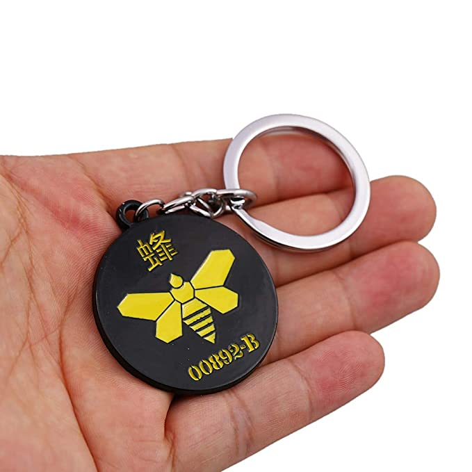 FITIONS - Movie Breaking Bad Keychain Metal Black Yellow ...