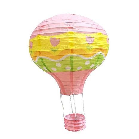 1ps Hei/ßluftballon 30/cm Papier Laternen f/ür Hochzeit Festival Party rose