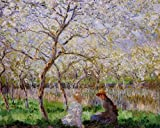 Monet Claude Springtime 2 100% Hand Painted Oil Paintings Reproductions 12X16 Inch