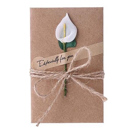 Amazon Herocome Creative Dried Flowers Card For Teachers Day
