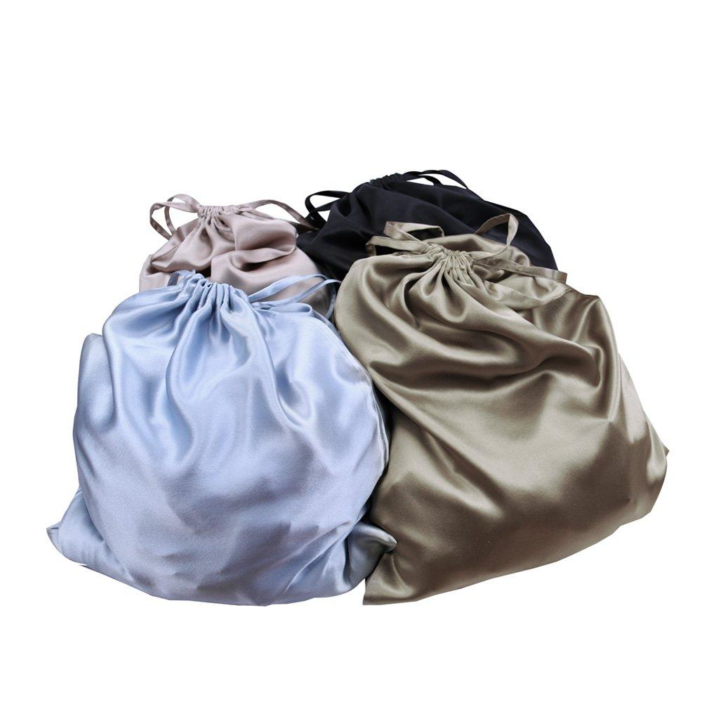 LilySilk Silk Women Pajama Sets 7pcs Hair Band and Hair Ties Short and Long Sets Sleepwear Ladies Light Pink XL/14-16 by LilySilk (Image #9)