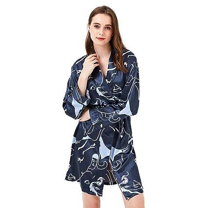 Batas Estilo Kimono para Mujer, Camisón De Dama De Honor De Satén ...