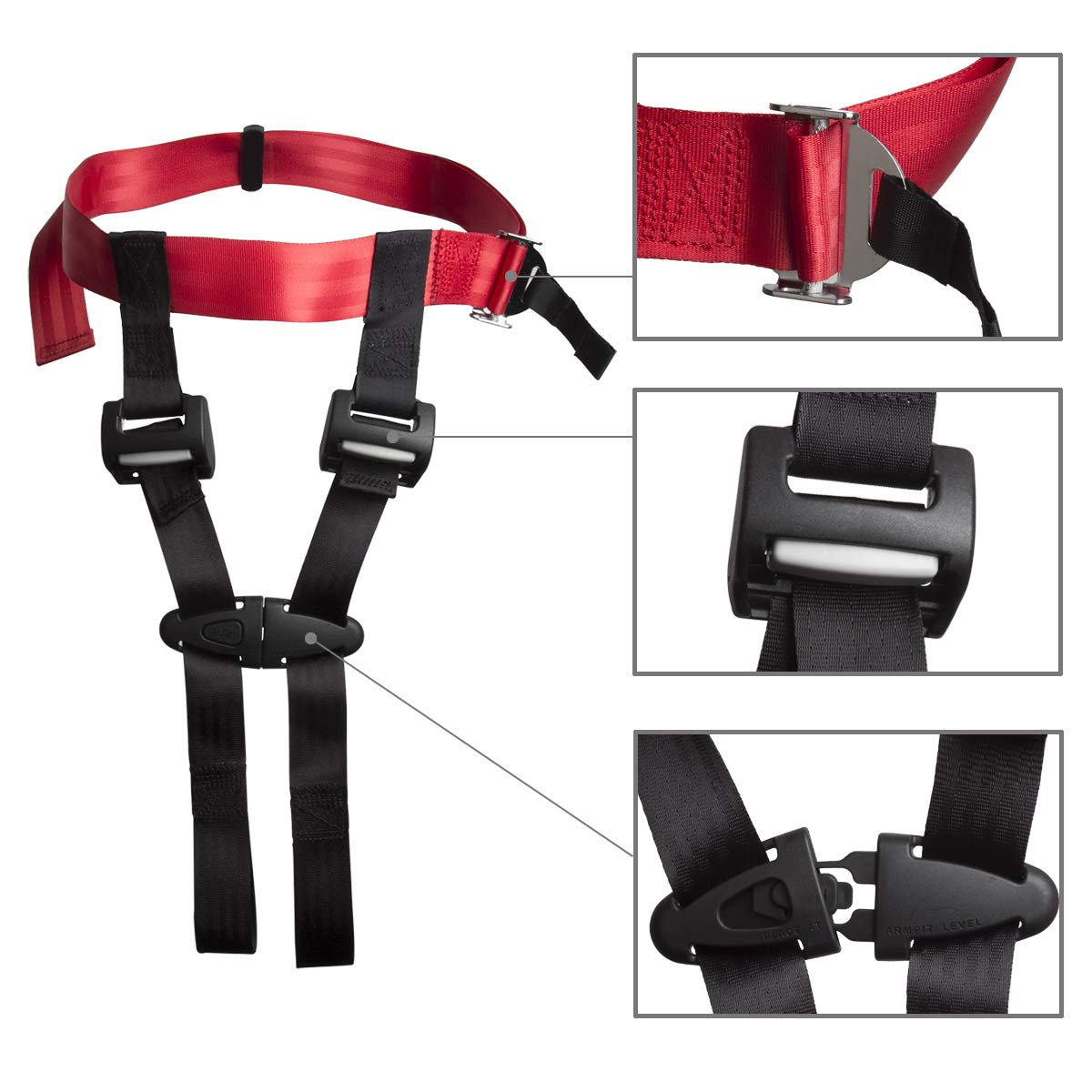 Child Safety Harness Airplane Travel Clip Strap,Care Harness Restraint System-Approved by FAA,Protect Your Child for Airplane Travel Safety