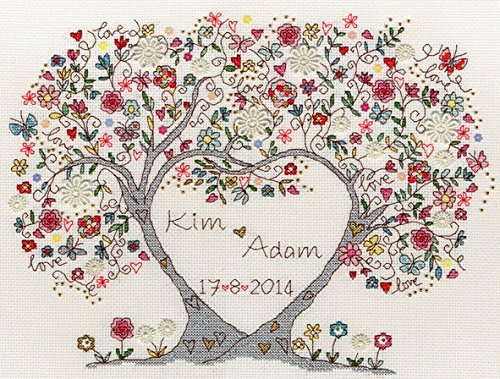 Bothy Threads Love Blossoms Cross Stitch Kit (Stitch Wedding Patterns Cross Sampler)