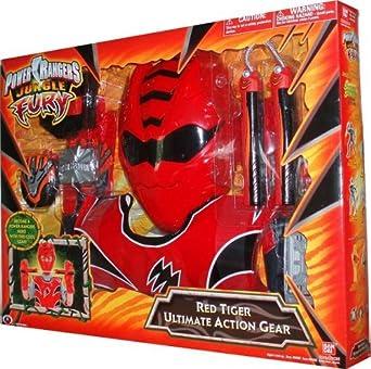 *NEW* POWER RANGERS JUNGLE FURY ~ BATTLE FURY TIGER RANGER RED