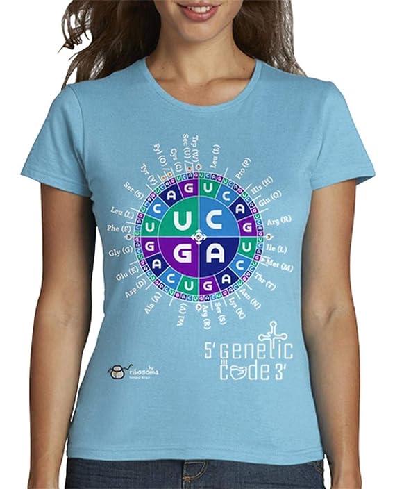 Camiseta para mujer biologa con el código genético