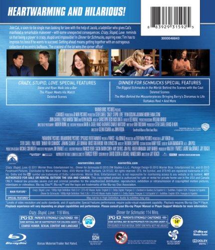 Crazy Stupid Love / Dinner For Schmucks (DBFE) [Blu-ray]