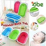 PERFECT SHOPO Folding Baby Bath Tub for infant bathing (Free Baby Station Full Sleeve 3 Jhabla) / Foldable collapsible baby bath tub. Children Bath Tub. Safety Bathtub. New born bath tub.