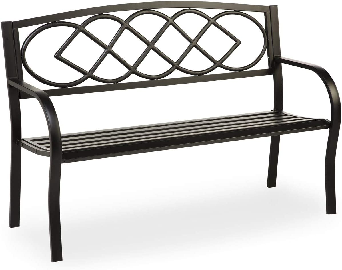 Evergreen Celtic Knot Garden Bench