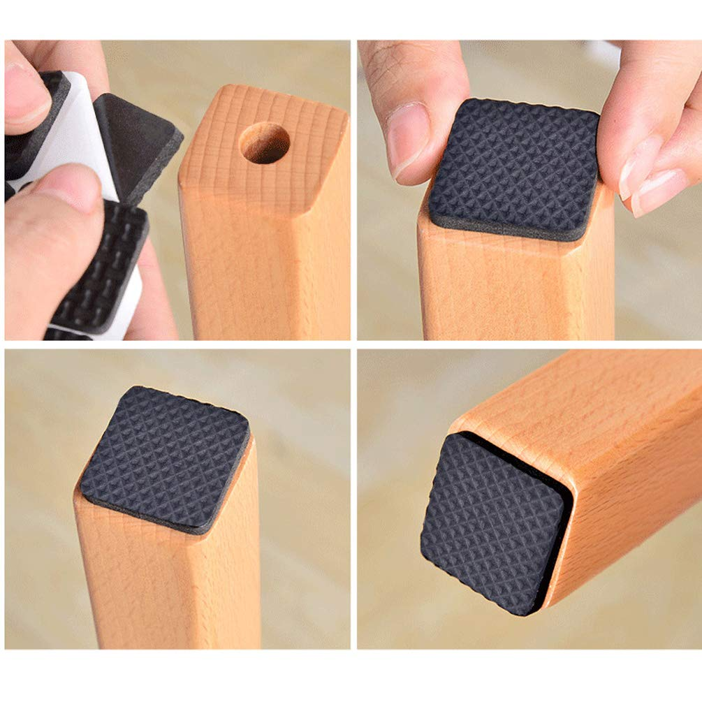 Round Square Shape Self Adhesive, Non-Slip Furniture Pads, Feet Sofa Table Chair Sticky Floor Protector - Square by TIMLand (Image #6)