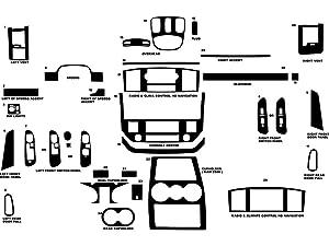 Rdash Dash Kit Decal Trim for Dodge Ram 2006-2008 (1500) / 2006-2009 (2500 / 3500) - Wood Grain (Burlwood Honey)