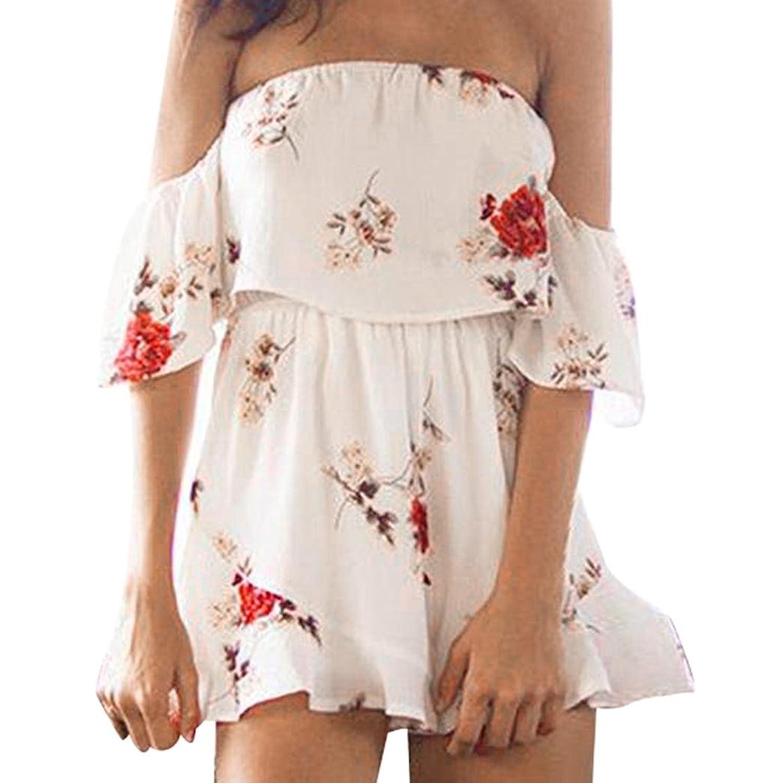 Damen Longra Jumpsuit Sommer Kleid Boho N8ynwmv0O